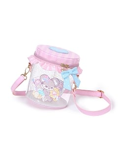 Glazed Candy Jar Transparent Bucket Bag by To Alice