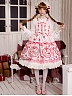 Criss-cross Halter Neckline With Bowknot Decoration On the Waist And Layered Flounce Hemline Lolita JSK - Strawberry And Bunny by Rose's Valley