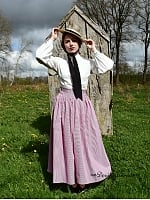 Custom Size Available Retro High Waist Lattice Skirt and Lantern Sleeves Decorated Blouse by Lace Garden