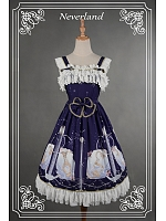 Custom Size Available Sweet Normal Waist Flounce Straps & Hemline Lolita JSK - Starlit Aquarius by Souffle Song