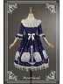 Lovely Stand-up Collar Detachable Cuff Aquarius Printed Lolita OP - Starlit Aquarius by Souffle Song