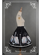 ON SALE-Sweet Natural Wasit Lace Up Lolita SK - Starlit Aquarius by Souffle Song