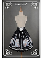 Custom Size Available Sweet Natural Wasit Lace Up Lolita SK - Starlit Aquarius by Souffle Song
