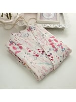Cotton Floral Print Long Trouser Short Sleeve Yukata Kimono Bathrobe