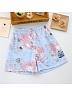 Kimono Japanese Robe Shorts Set Fox Pink Blue