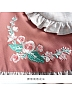 Wind Flowers Embroidered Long Sleeve Dress by HuaJianShang