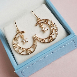 Hollow Out Heart Moon Star Ear Hook