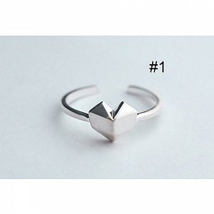 Simple Cute Various Shapes Silver Rings