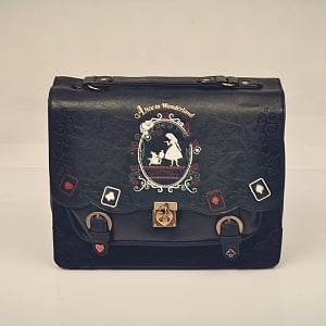 ON SALE-Alice In Wonderland Themed Briefcase Style Backpack