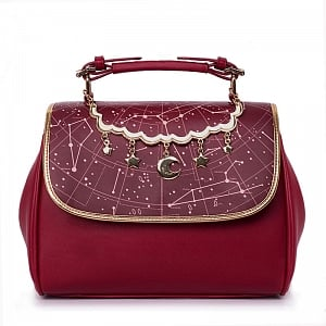 MuFish Constellation Printed Handbag