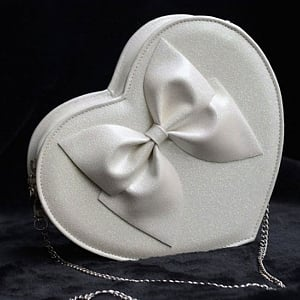 Night Sky Glitter Cute Bowknot Heart Crossbody