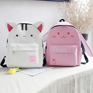 Cute Kitty And Bunny Backpack