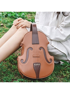 Violin Shape Vintage College Handbag