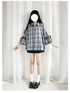 Reborn Plaid Blouse by Catwish