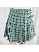 Plaid High Waist Skirt by Catwish