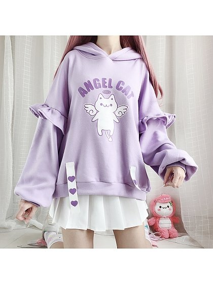 Angel Cat Hoodie by Catwish