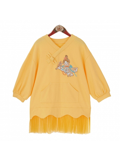 Small Embroidered Mother Net Gypsy Dress by Dear Li