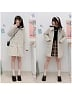 Sailor Collar Padded Coat Long Version by DeerImmort