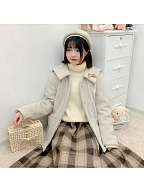 Sailor Collar Padded Coat Short Version by DeerImmort