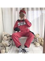 Panda Printed Hoodie and Sweatpants Set by DeerImmort