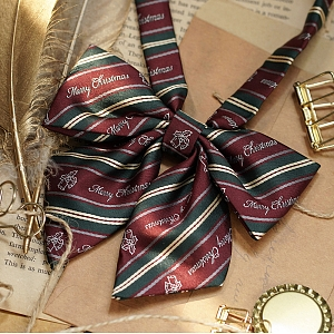 Little Ring Christmas Bow Tie and Neck Tie by DY