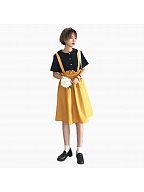 Japanese Soft Girl Slip Loose Dress College Style by ELIM