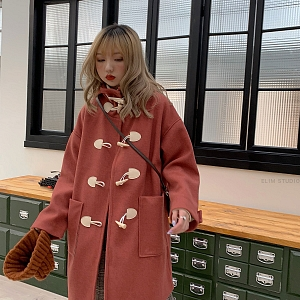College Style Uniform Button and Wool Hat by ELIM