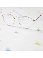 Babygirl Glasses Vintage Clear Oval Big Frame