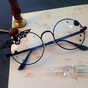 Lolita Accessories Glasses Black Bat Rose Gothic