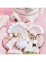 Plush Tassel Fan Bowknot Hairclip
