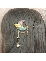 Rainbow Moon Wings Hairclip