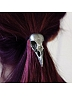 Metal Crow Skull Hair Ring