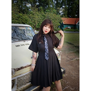 Plus size JK Uniform Dress by Hardcandy