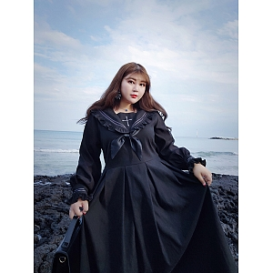 Plus size JK Uniform Long Sleeves Dress by Hardcandy