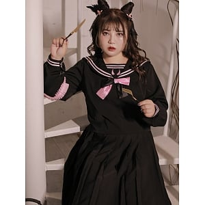 Plus Size Black and Pink JK Uniform by Hardcandy