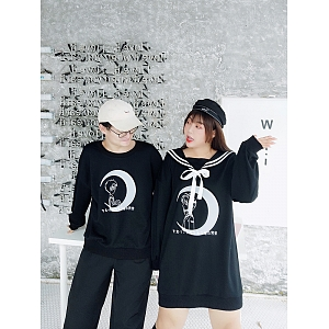 Plus Size Couple Version Dress and Sweatshirt by Hardcandy