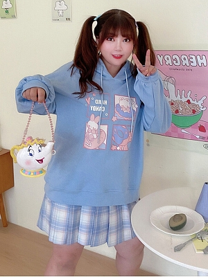 Plus Size Sweet Bear / Bunny Prints Hoodie by Hard Candy