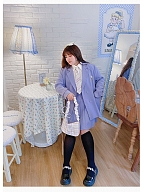 Plus Size Purple Suit Jacket / Skirt / Shirt by Hard Candy