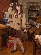 Plus Size Bear Cookies JK Uniform Top / Pleated Skirt by Hard Candy