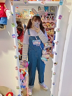 Plus Size Peach Bunny Overalls Pants Hard Candy