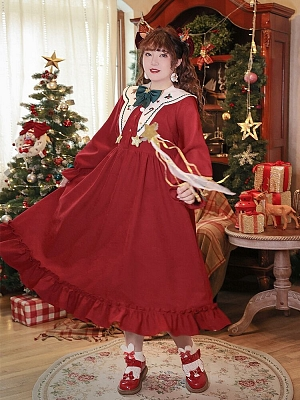 Plus Size Christmas Series Long Dress by Hard Candy