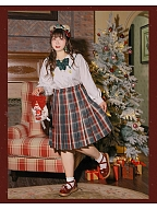 Plus Size Christmas Series Plaid Pleated Skirt by Hard Candy