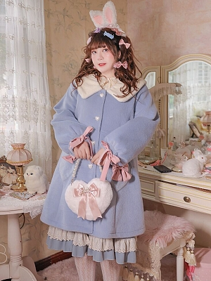Plus Size Milk Ball Bunny Series Blue Coat by Hard Candy