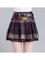 A Line Pleated Skirt