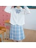 Two Colors Available Janpanese Uniform Pleated Skirts by Kyouko