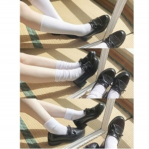 8 Colors Three-Way Calf-Length Uniform Socks by Zhong JK Clothing
