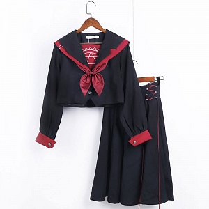 Magic Array Embroidered Sailor Suit