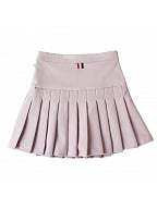 British College Style Pleated High Waist SK