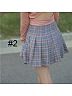 High Waist Plaid SK Three Colors Available