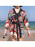 Colorful Tin Wa Style Bathrobe